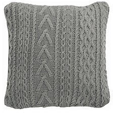 Sakura Light Grey Cable Knit Cushion