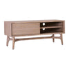 CORBIN TV Entertainment Unit Solid Wood 1.3M - Havana Sandblast