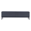 LOWELL TV Entertainment Unit - 120cm - Gunmetal Grey