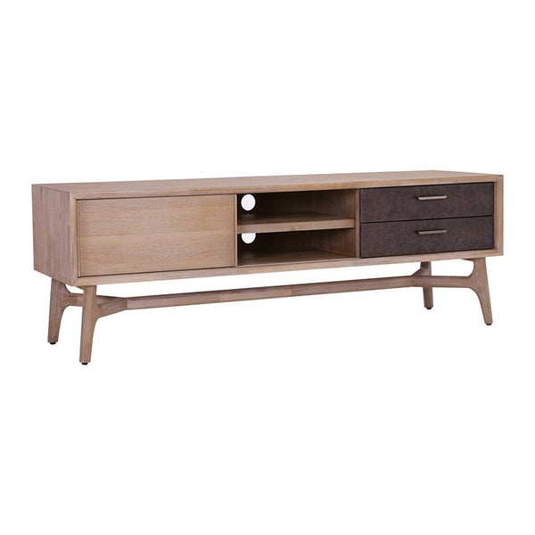 CORBIN TV Entertainment Unit Solid Wood 1.65M - Havana Sandblast