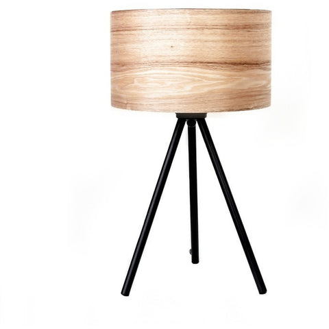 Wooden Ash Table Lamp