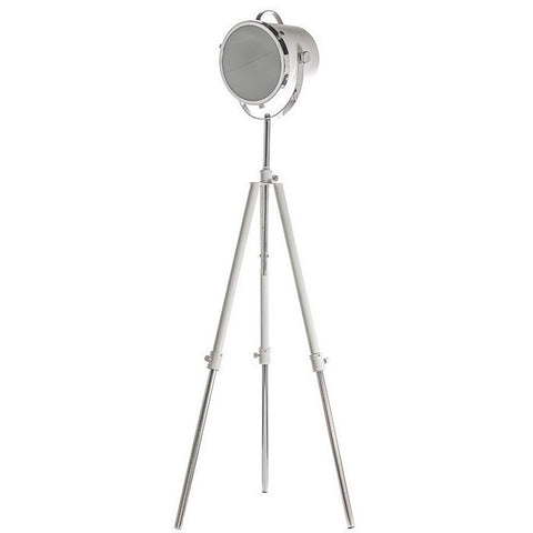 White Metal Floor Lamp