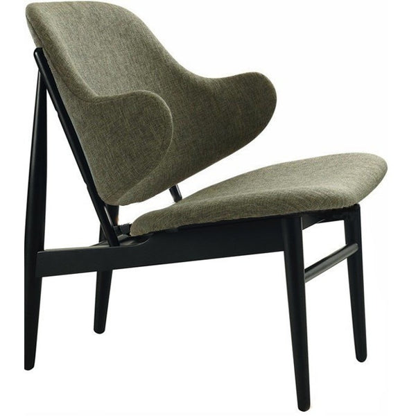 Veronic Lounge Chair Black & Forrest Fabric