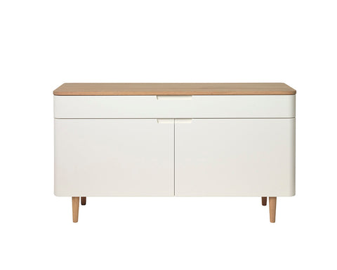 SIENNA Sideboard 140cm -  Natural & White
