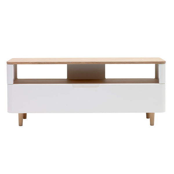 SIENNA Entertainment TV Unit 120cm -  Natural & White