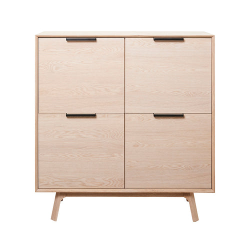 CAPRI Tall Sideboard 120cm -  Natural