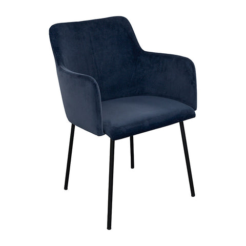 Desta Blue Velvet Dining Chair