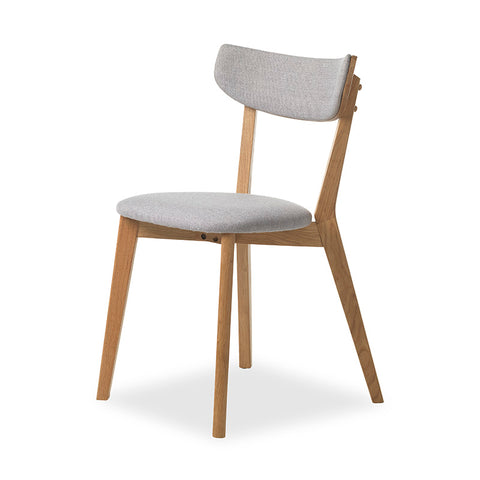 INARI Dining Chair - Oak & Light Grey