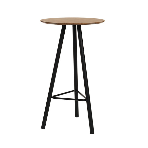 MOXIE Bar Table 60cm - Walnut/Black