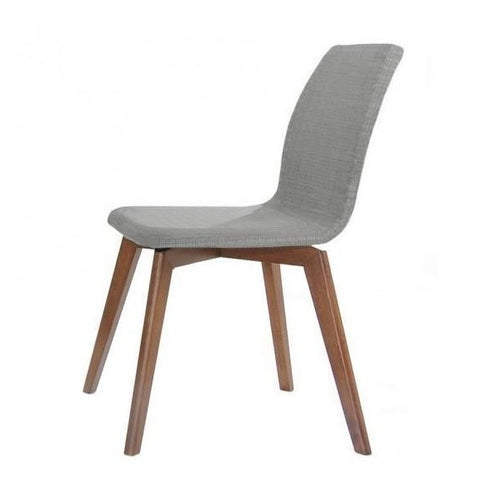 Asha Dining Chair - Walnut + Grey