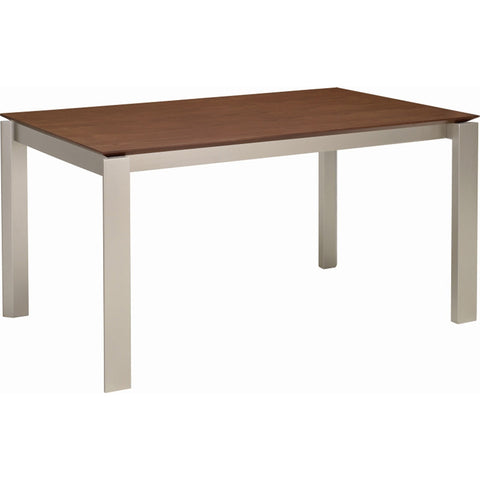 Elwood Dining Table - 150cm - Metallic + Cocoa