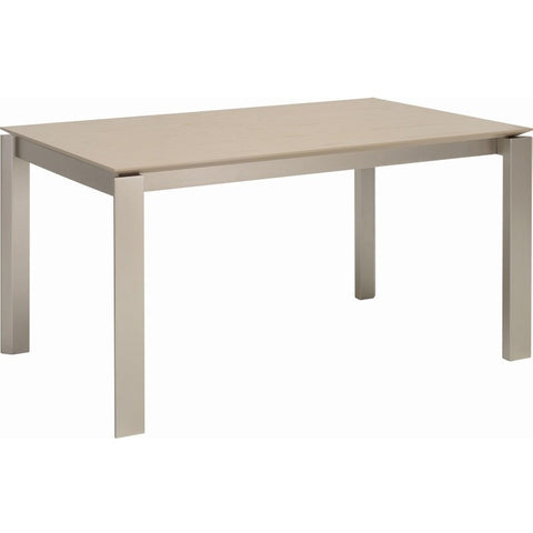 Elwood Dining Table - 150cm - Metallic + Taupe Grey