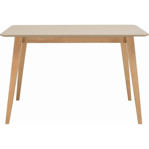 Platon Dining Table - 120cm - Oak + Taupe Grey