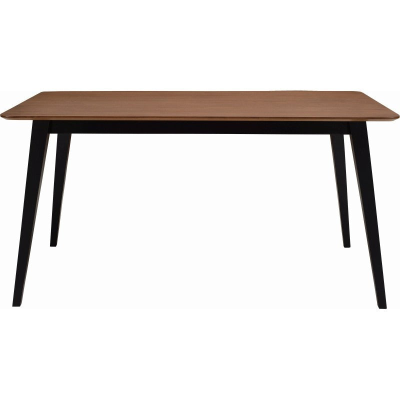 Platon Dining Table - 150cm - Black Ash + Cocoa