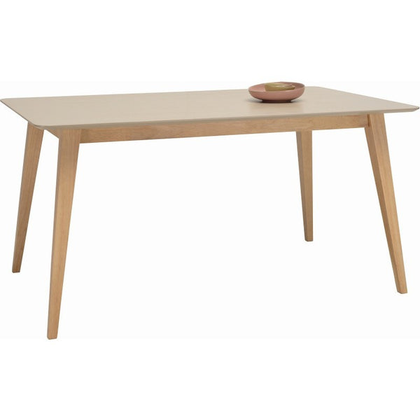 Platon Dining Table 150cm Oak Taupe Grey Modern