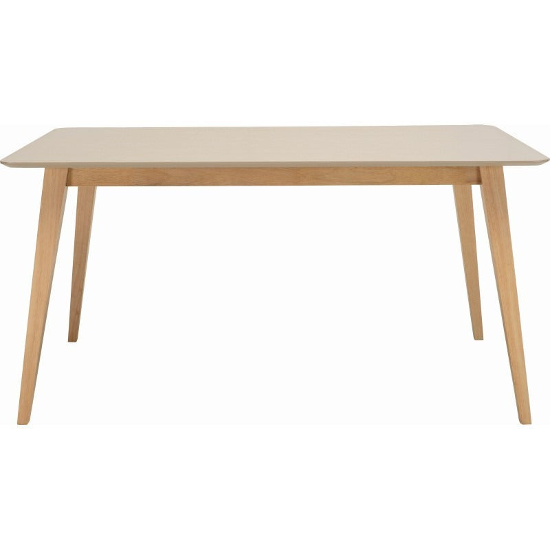 Platon Dining Table - 150cm - Oak + Taupe Grey