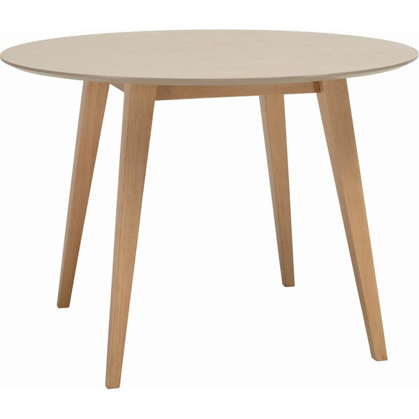 Platon Round Dining Table - 105cm - Oak + Taupe Grey