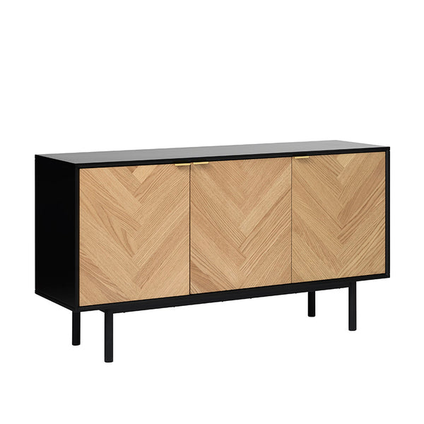 CALVI Sideboard 1.5M -  Natural & Black