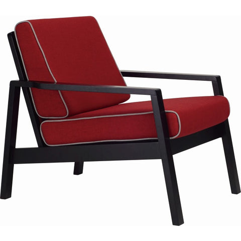 Latio Lounge Chair In Crimson