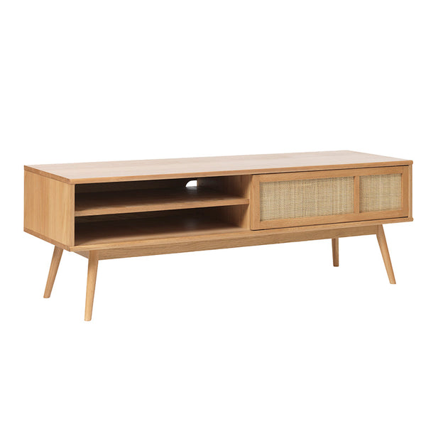 BARRALI Entertainment TV Unit 150cm -  Natural & Rattan