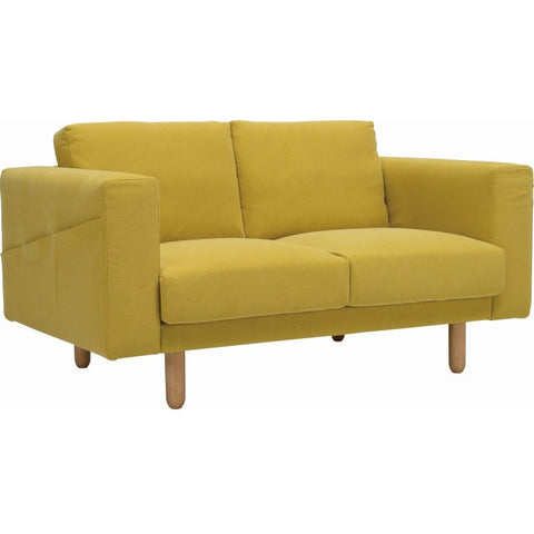 Minex 2 Seater Sofa - Natural + Turmeric
