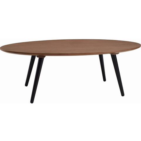 Carsyn Oval Coffee Table - Walnut