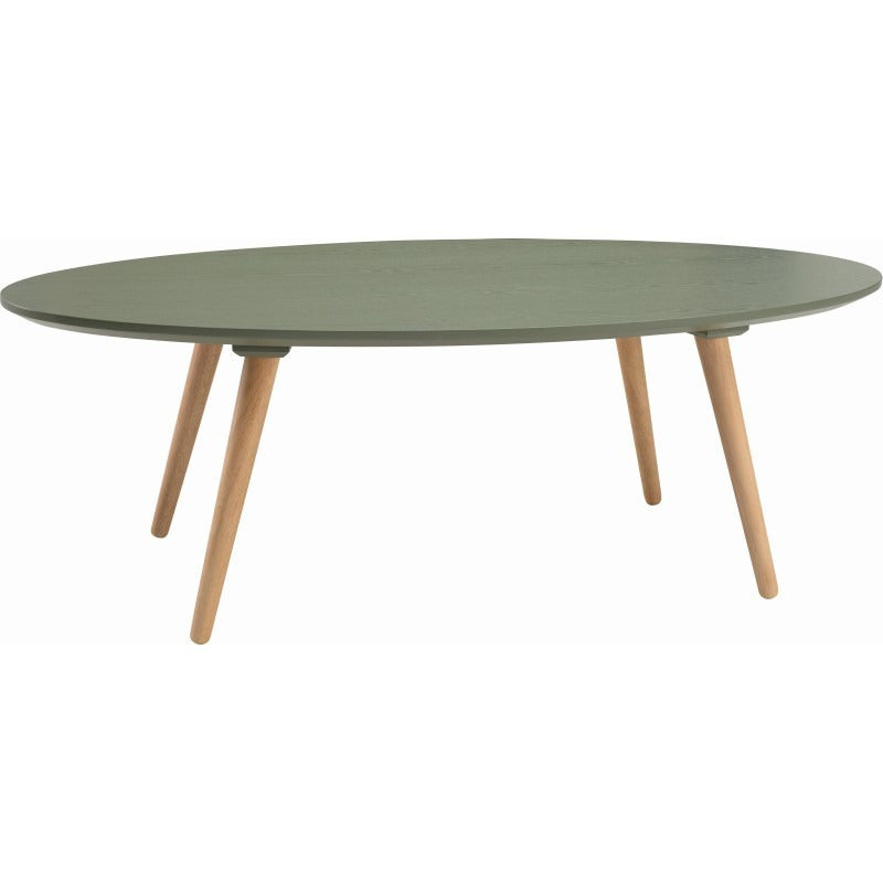 Carsyn Oval Coffee Table In Pickle Green