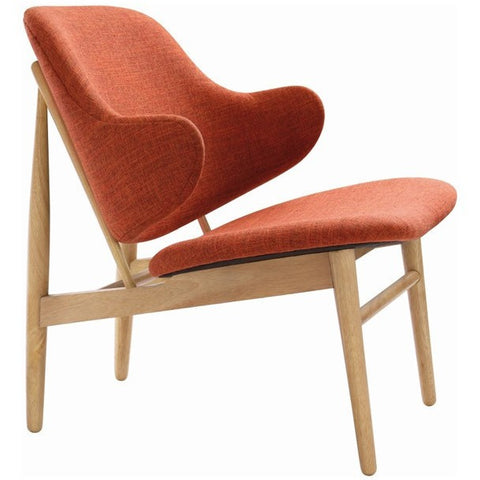 Veronic Russet Fabric Chair
