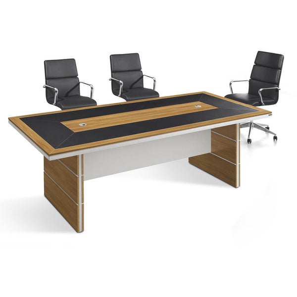ARLO Boardroom Table 2.4M - Honey Oak