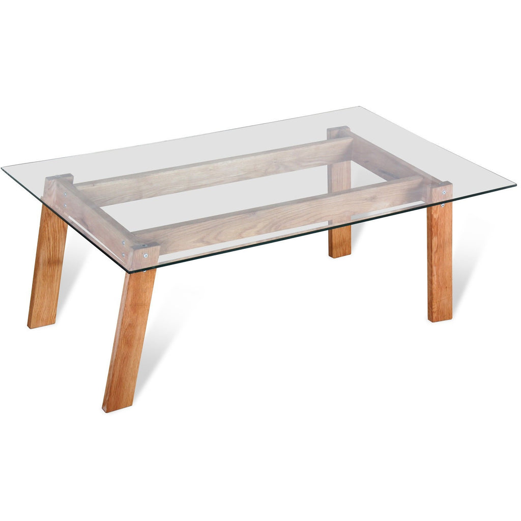 Marvel Glass and Wood Coffee Table