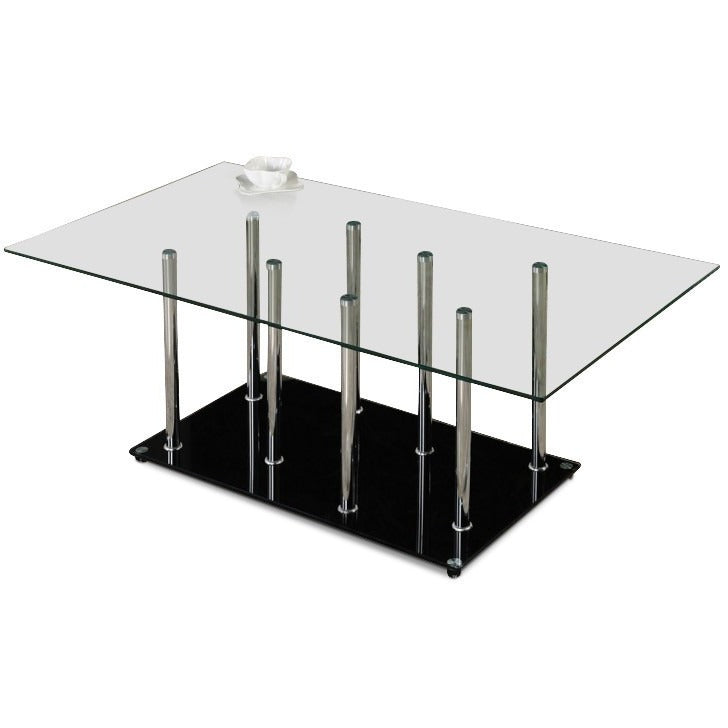 Glass Coffee Tables Perth: Camila Glass And Chrome Coffee Table