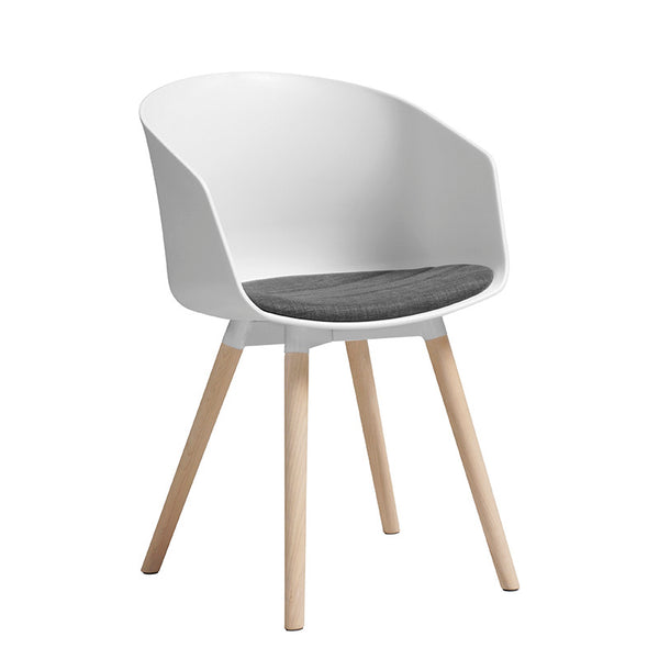 MOON Dining Chair - White & Natural
