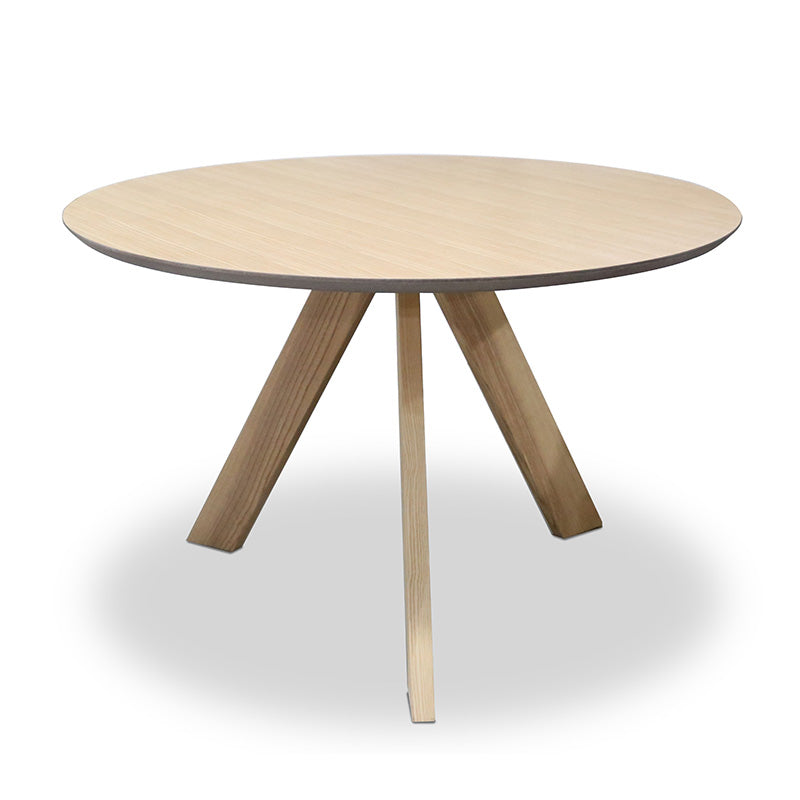 Ace Round Dining Table - 120cm - Natural Oak