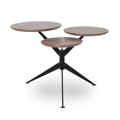 ADANI Side Table - Walnut & Black