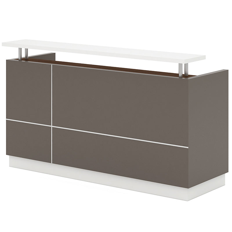 Amias Reception Desk  1.8M - Brown Grey