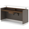 Amias Reception Desk - 180cm - Grey + Flat White