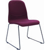 Ava Dining Chair - Black Metal +  Ruby