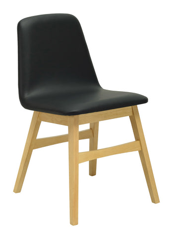 Avice Dining Chair in Black and Natural
