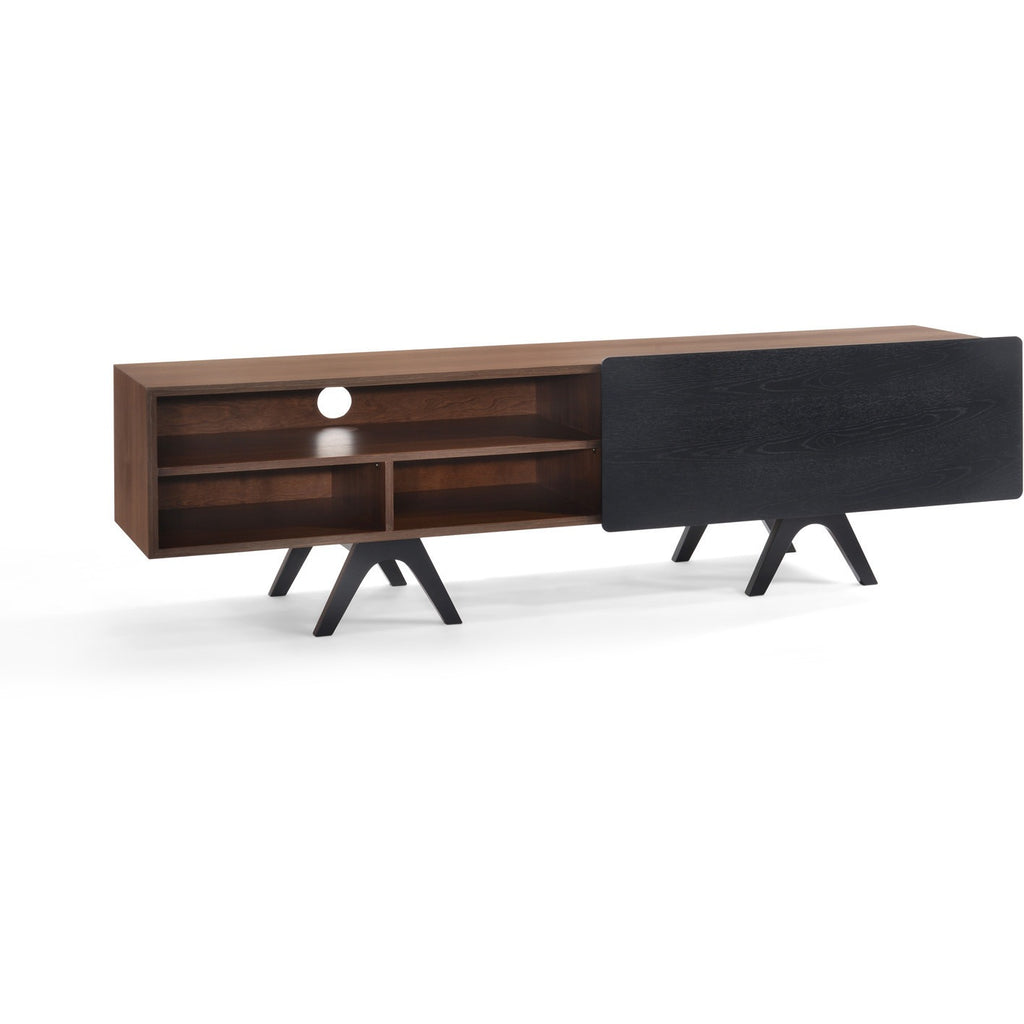 BROOKS TV Entertainment Unit 180cm - Walnut+Black