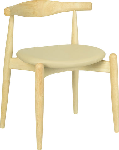 Bouvier Dining Chair in Natural and Cream