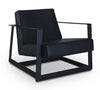 Bruno Lounge Chair - Black PU Leather