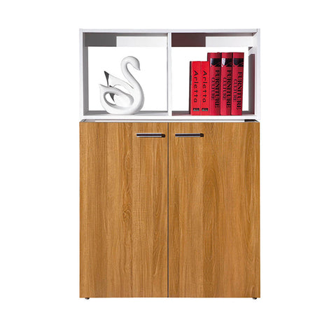 ZORAN Credenza Cabinet  80cm - White & Honey Oak
