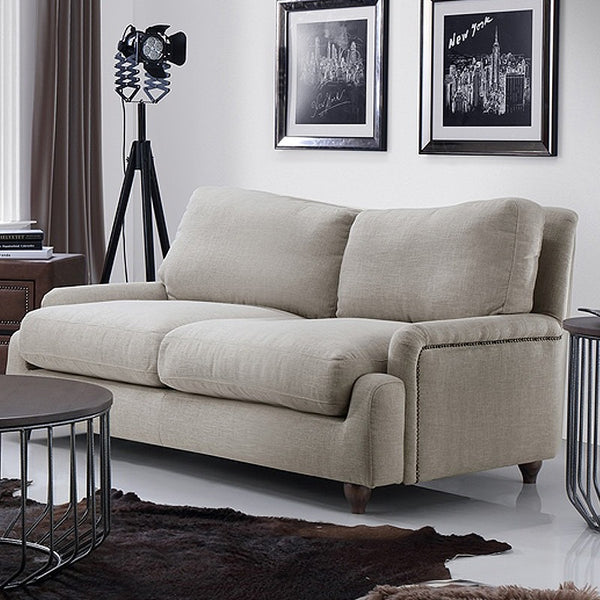 Carina 2 5 Seater Sofa Beige Modern Furniture