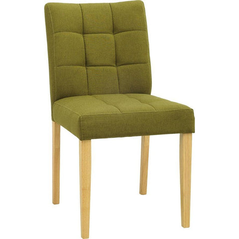 Davin Dining Chair - Oak + Olive