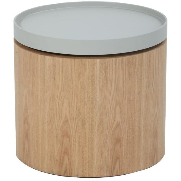 Carden Side Table with Grey Tray