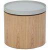Carden Side Table with Grey Tray - Ash Veneer