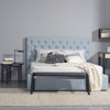 Dustin Queen Bed - Aquamarine