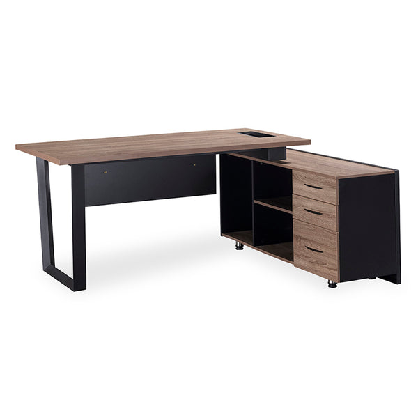 ADRIANO Executive Office Desk with Right Return 1.8M - Light Brown
