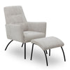 FOXTON Leisure Chair with Ottoman - Grey
