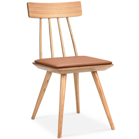Zana Dining Chair - Tan + Ash